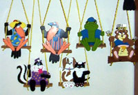 painted hanging animals